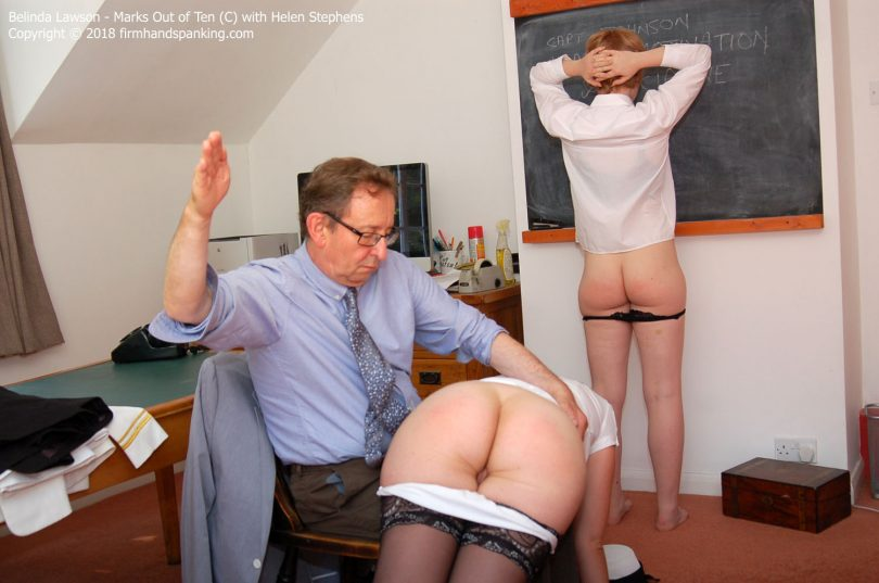 marks c014 810x537 - Firm Hand Spanking – MP4/HD – Belinda Lawson - Marks Out of Ten - C/Belinda Lawson's spectacular bare bottom spanking is a marathon!| October 31, 2018