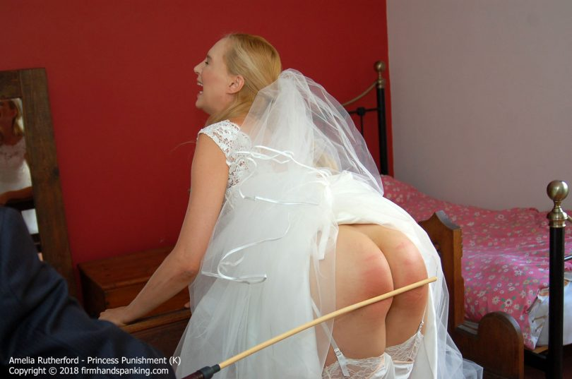 princess k012 810x537 - Firm Hand Spanking – MP4/HD – Amelia Rutherford - Princess Punishment K/Pre-wedding caning finale on Amelia Rutherford's perfectly peachy bare bottom | Oct 29, 2018