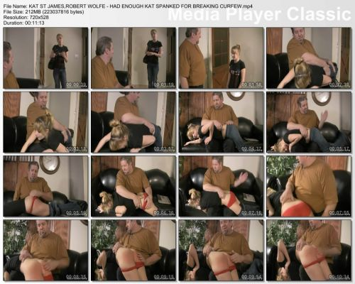 thumbs20181018222128 - Disciplinary Arts – MP4/SD – KAT ST JAMES,ROBERT WOLFE - HAD ENOUGH KAT SPANKED FOR BREAKING CURFEW