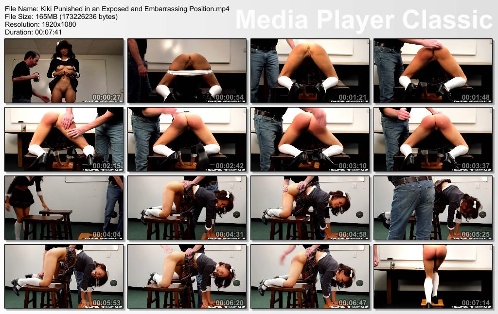 thumbs20181027125042 1024x646 - Real Spankings Institute – MP4/Full HD – Kiki: Punished in an Exposed and Embarrassing Position  | OCT. 26, 18