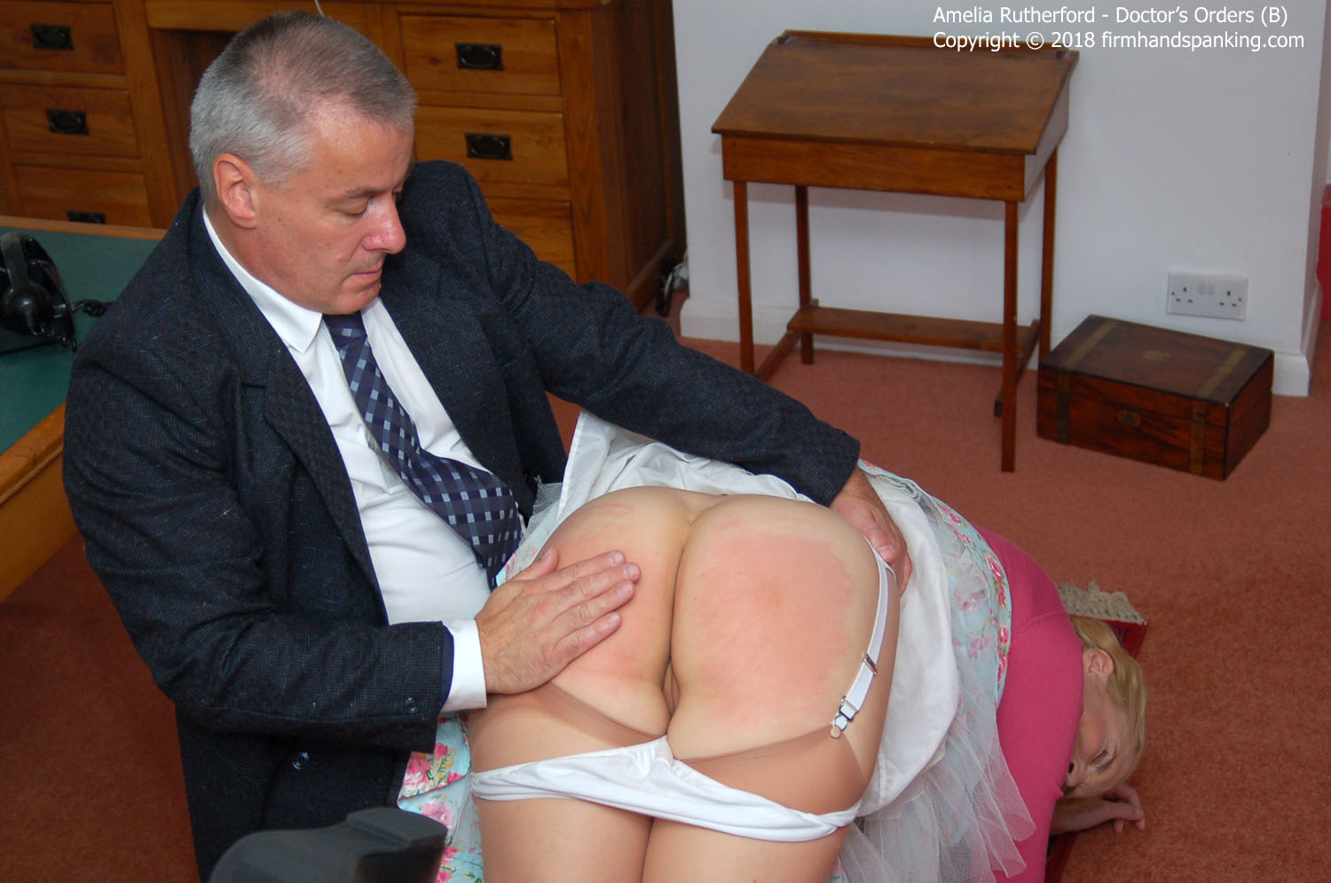 Firm Hand Spanking – MP4/HD – Amelia Rutherford – Doctor's Orders – B/Panties down, nurse Amelia Rutherford is soundly spanked for disrespect