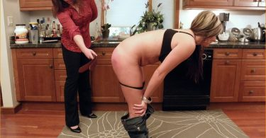 ril 375x195 - Real Spankings – MP4/Full HD – The Little One gets a Long OTK Spanking with a Wooden Spoon | October 31, 2018