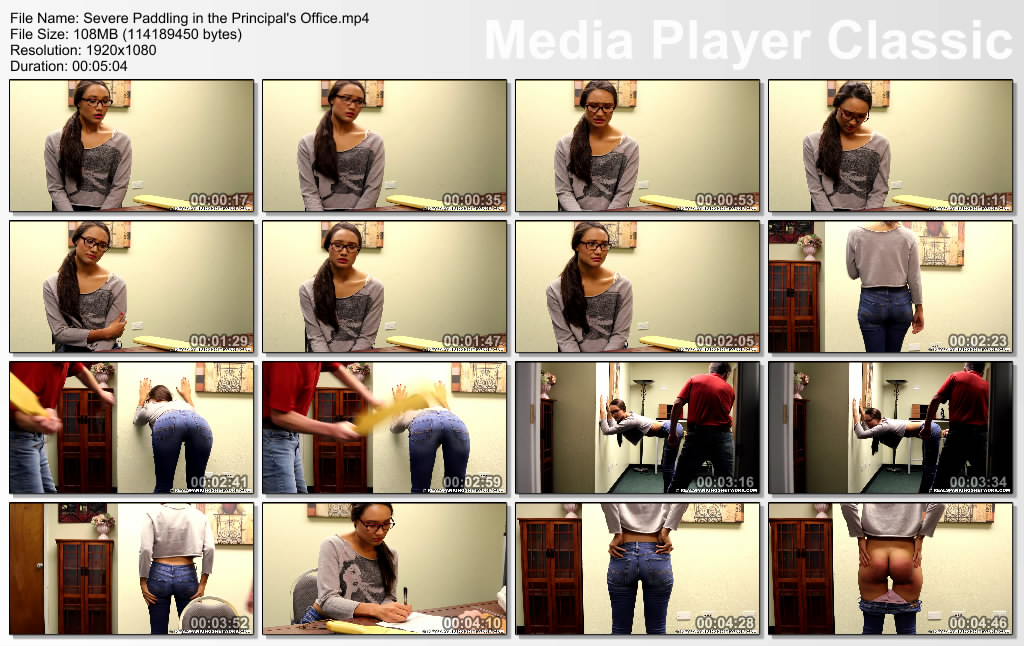 thumbs20181102183852 - Real Spankings – MP4/Full HD – Severe Paddling in the Principal's Office | November 02, 2018