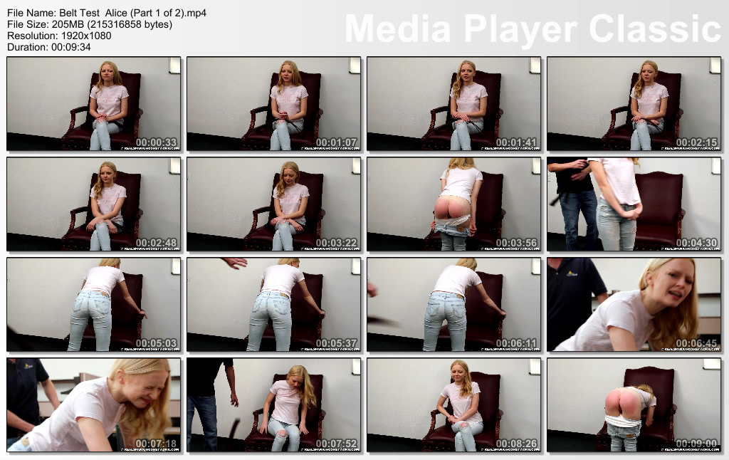 thumbs20181116215432 - Real Spankings – MP4/Full HD – Belt Test  Alice (Part 1 of 2) | NOV. 16, 18