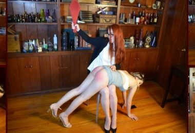 01 8 380x260 - Spanking Veronica Works – MP4/Full HD – Veronica Ricci,Cora Ora - Episode 120: Librarian Spanks Noisy Girl in Library