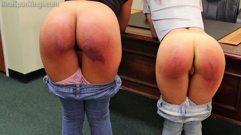 15063 014 810x456 - Real Spankings – MP4/Full HD – Kiki and Ambriel Paddled by The Principal (Part 2 of 2) | Dec 17, 2018