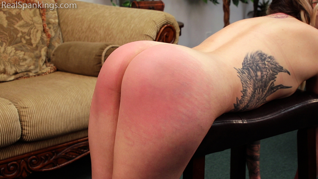 Real Spankings – MP4/Full HD – Cara's Fully Nude Punishment (Part 1 of 2) | December 24, 2018