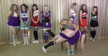 snapshot20181210171401 375x195 - Cheerleader Spankings – MP4/Full HD – Adriana Evans, Alex Reynolds, Cassidy Lau, Christy Cutie, Harly Havik, Michael Masterson, Miss Elizabeth, Stevie Rose, Violet October - Cheer Camp Year Two – clip 02