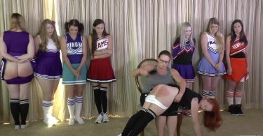 snapshot20181210172212 375x195 - Cheerleader Spankings – MP4/Full HD – Adriana Evans, Alex Reynolds, Cassidy Lau, Christy Cutie, Harly Havik, Michael Masterson, Miss Elizabeth, Stevie Rose, Violet October - Cheer Camp Year Two – clip 03