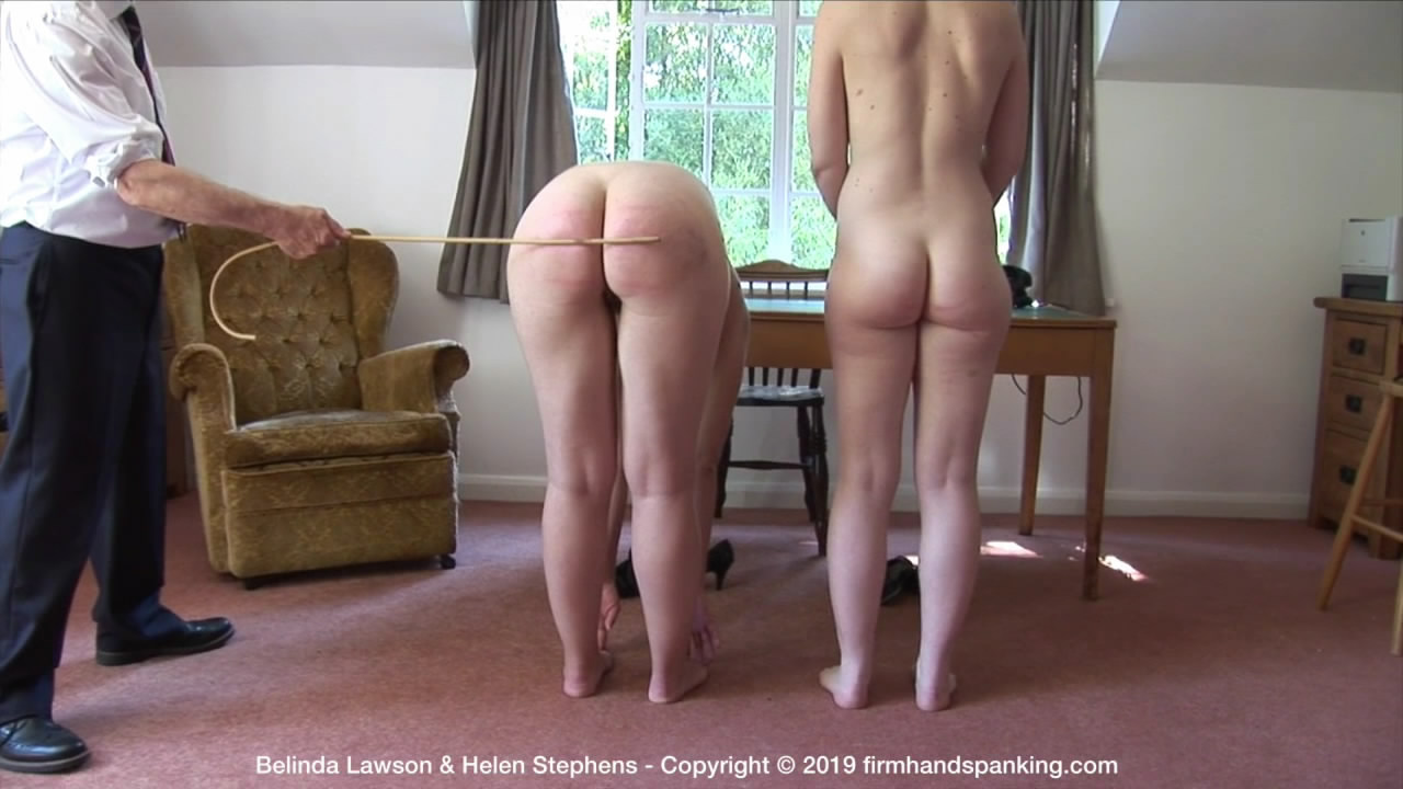 Firm Hand Spanking – MP4/HD – Belinda Lawson & Helen Stephens – Marks Out of Ten – ZD/Totally nude naval caning continues for Belinda and Helen, touching their toes | Jan 25, 2019