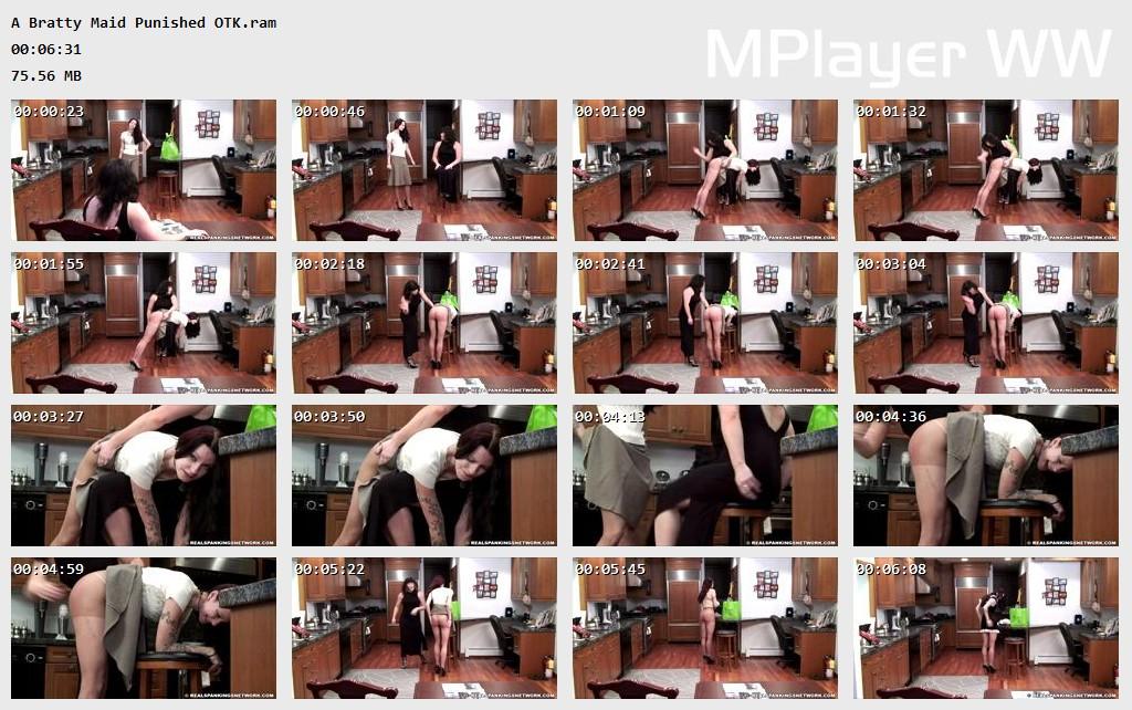OTK Spankings – RM/HD – A Bratty Maid Punished OTK | FEB. 06, 19