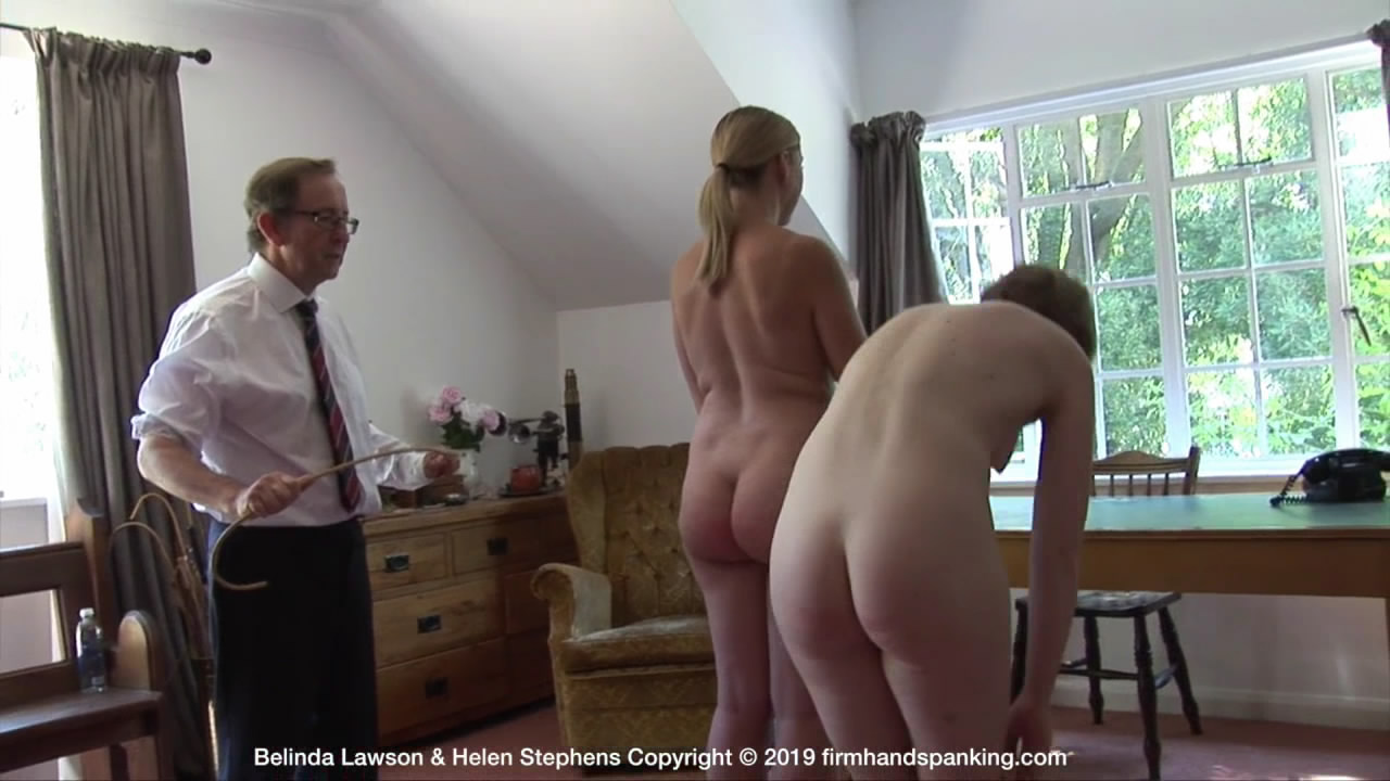 Firm Hand Spanking – MP4/HD – Belinda Lawson & Helen Stephens – Marks Out of Ten – ZF/Touching their toes nude, Belinda and Helen each take an extra six cane strokes! | Feb 01, 2019