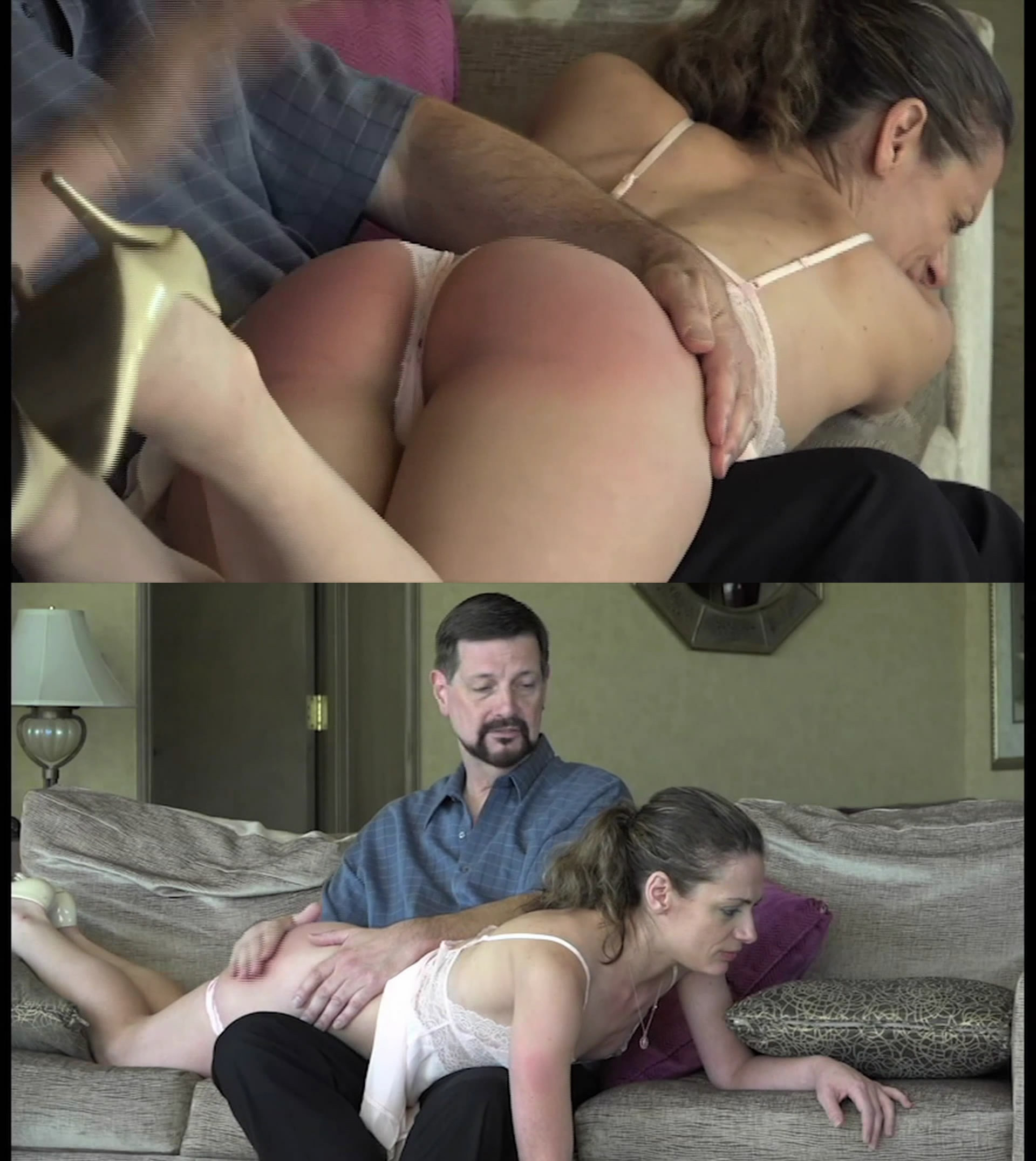 MP4/Full HD – Ten Amorette, Brian Tarsis – Ten Amorette Spanked in Lingerie