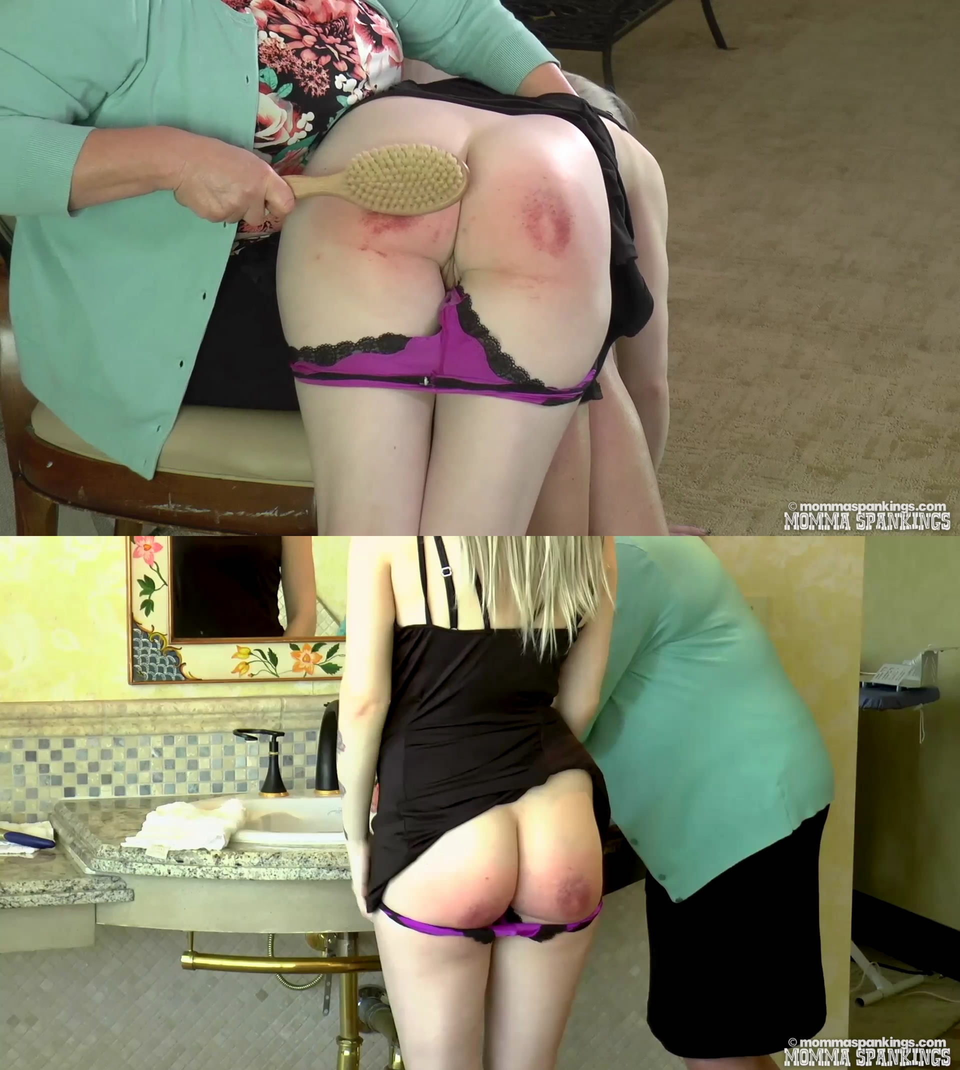 Momma Spankings – MP4/Full HD – Miss Bernadette, Sarah Gregory – Daughter Punishment
