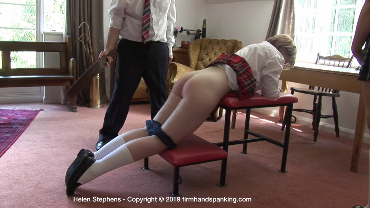 Firm Hand Spanking – MP4/HD – Helen Stephens – Marks Out of Ten – ZL/Helen Stephens reports for a discipline session in school uniform BIG mistake! | FEB. 15, 19
