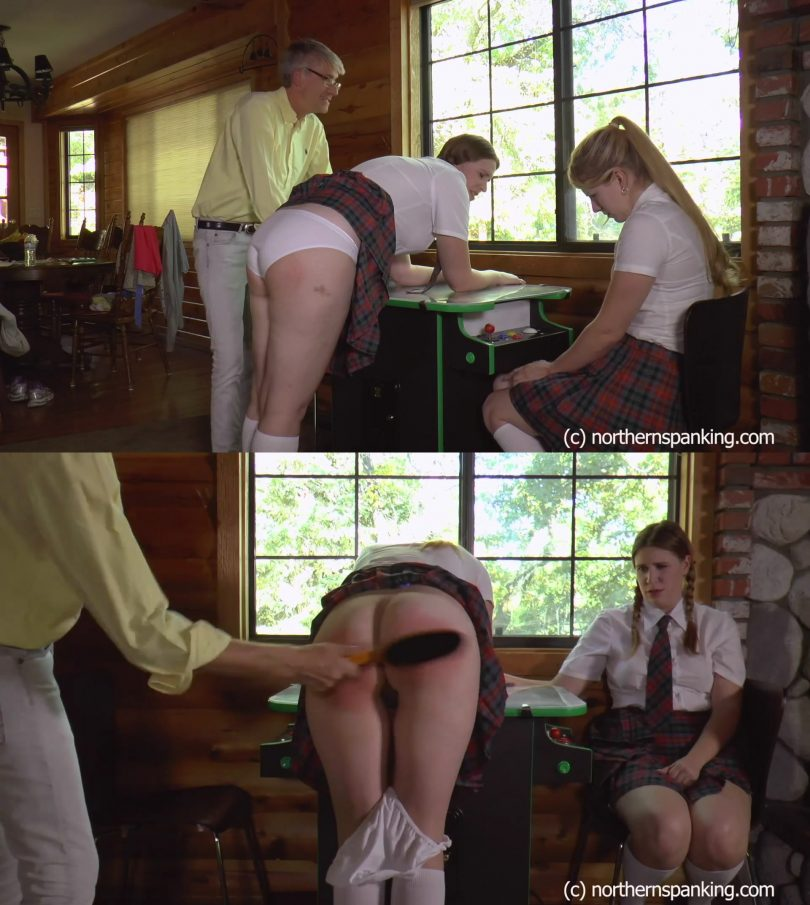 snapshot20190220160105 810x905 - Northern Spanking – MP4/Full HD – Alex Reynolds, Harley Havik, Paul Kennedy - Schoolgirl Space Invaders Spanking