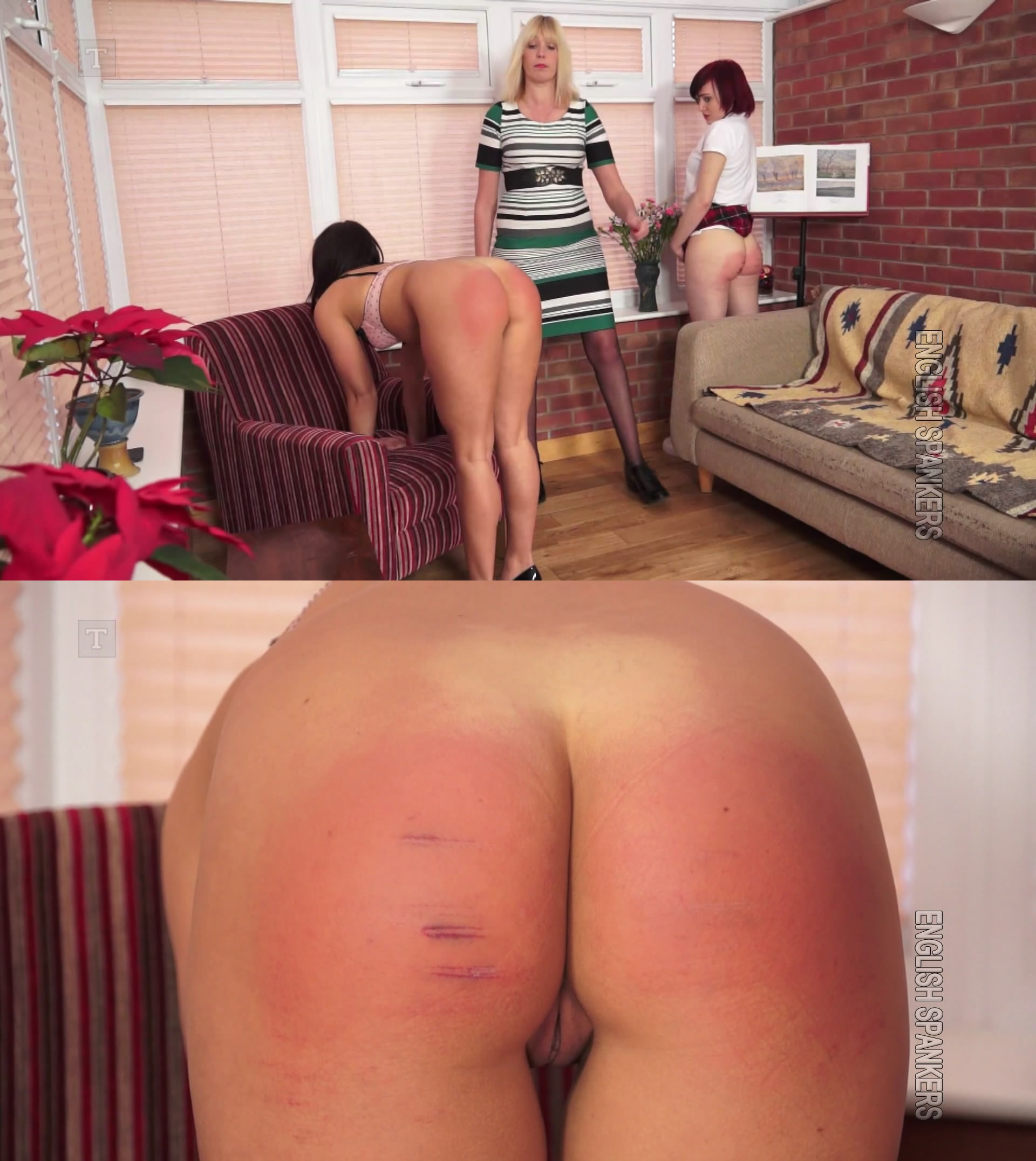 English Spankers – MP4/Full HD – Luna Rose, Bell,Sarah Stern – College Caning For Bell