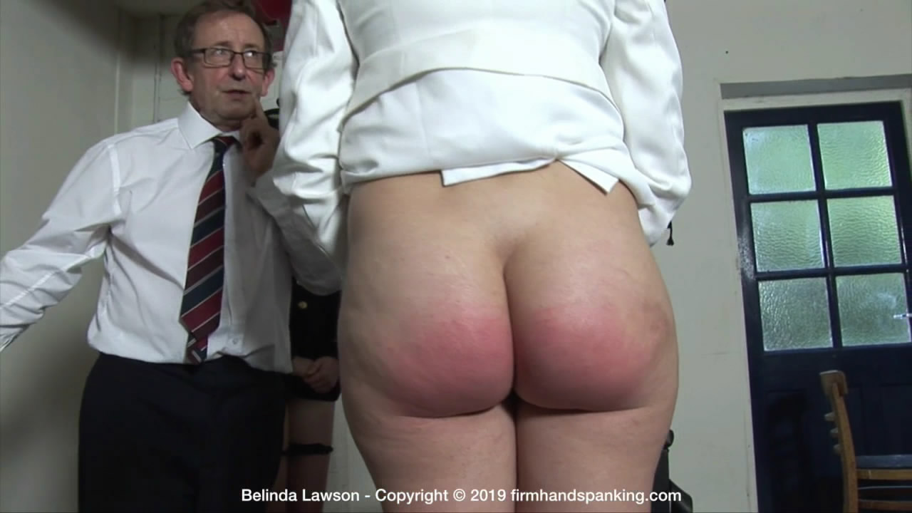 "Firm Hand Spanking – MP4/HD – Belinda Lawson – Marks Out of Ten ZT/""I always dread the wooden paddle,"" admits Belinda Lawson as her bottom is bared 