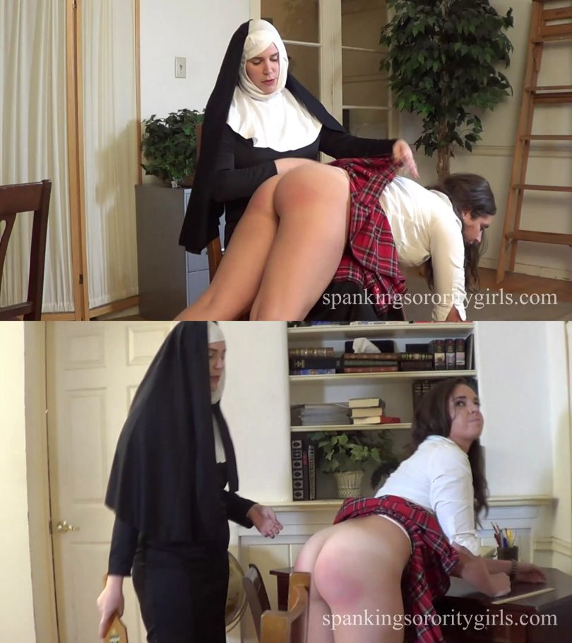 snapshot20190321115359 810x910 - Spanking Sorority Girls – MP4/Full HD – Sister Mary Alex, Adriana Evans - Episode 186: Sister Alex Spanks Adriana in Her Office