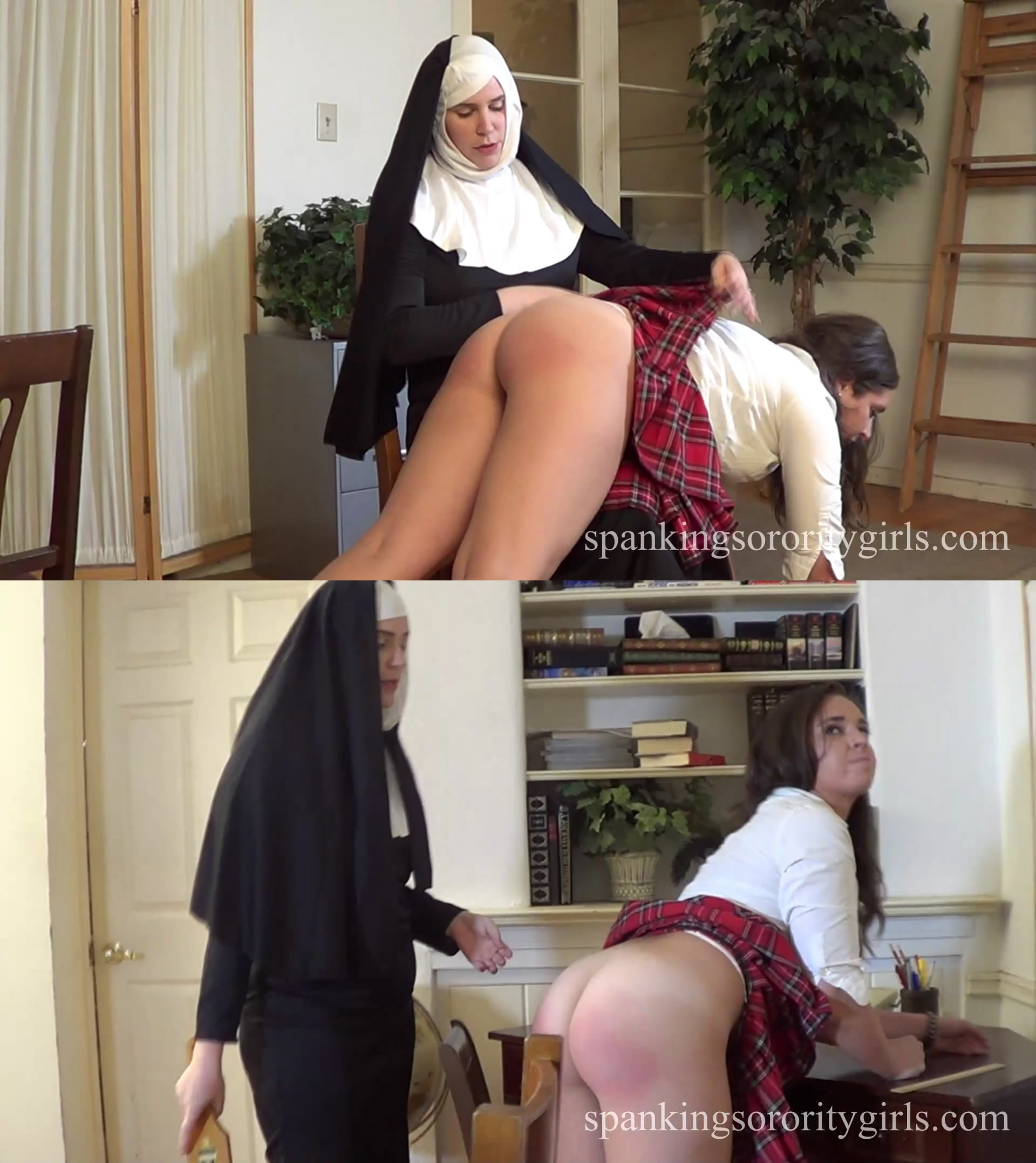 Spanking Sorority Girls – MP4/Full HD – Sister Mary Alex, Adriana Evans – Episode 186: Sister Alex Spanks Adriana in Her Office