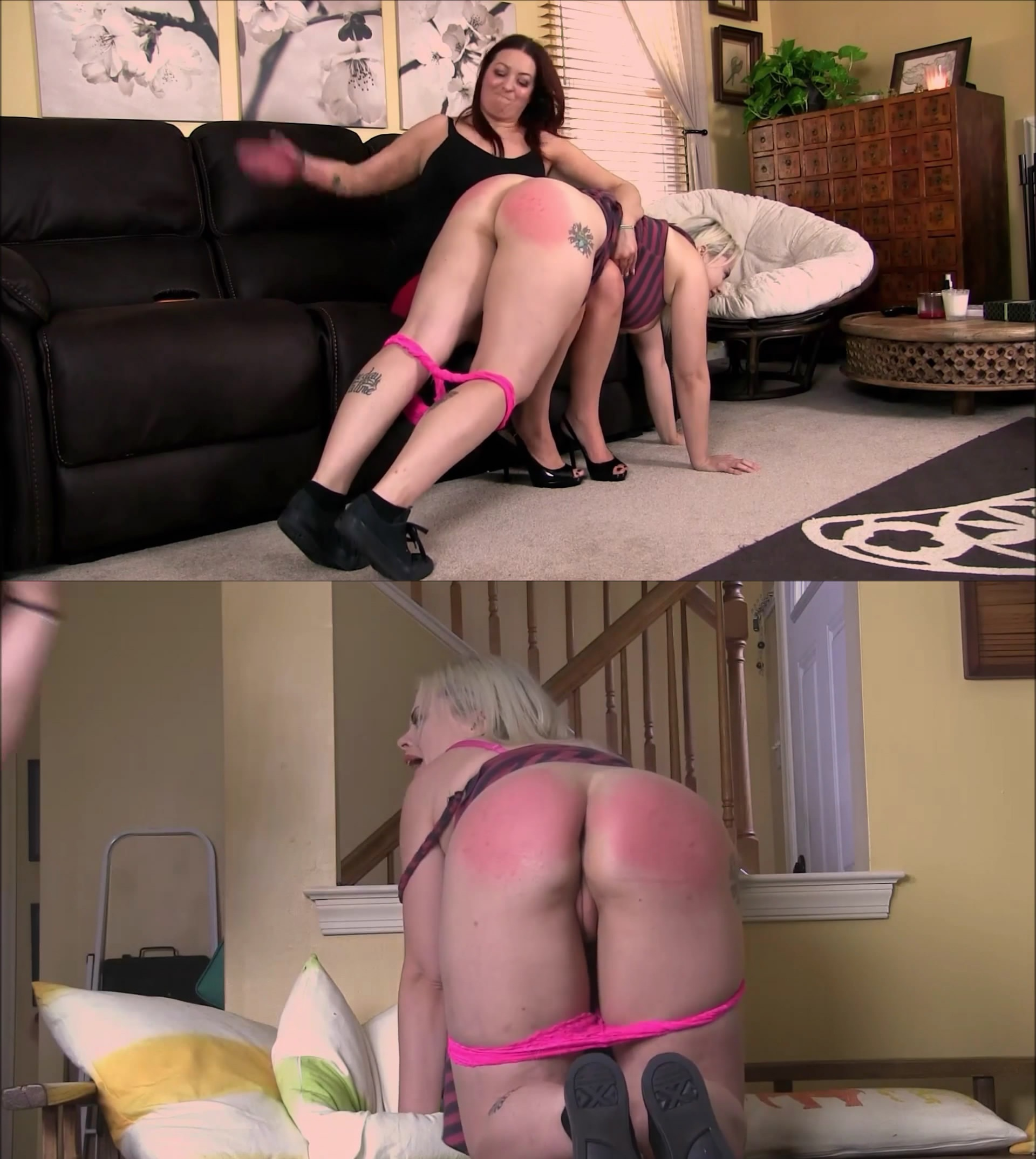 Punished Brats – MP4/Full HD – The Nadia and Skyler Improv Spanking Sessions Part 2 of 2