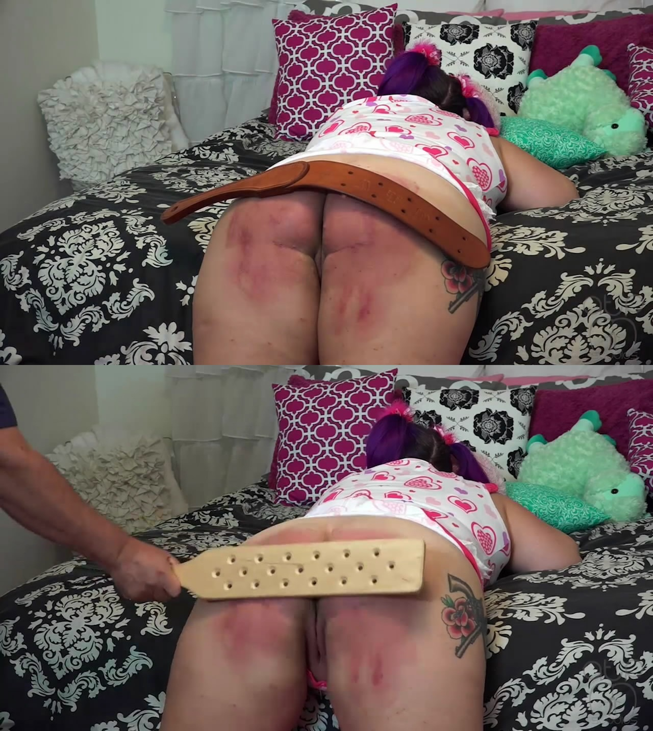 MP4/Full HD – SOBBING UNDER THE STRAP AND PADDLE