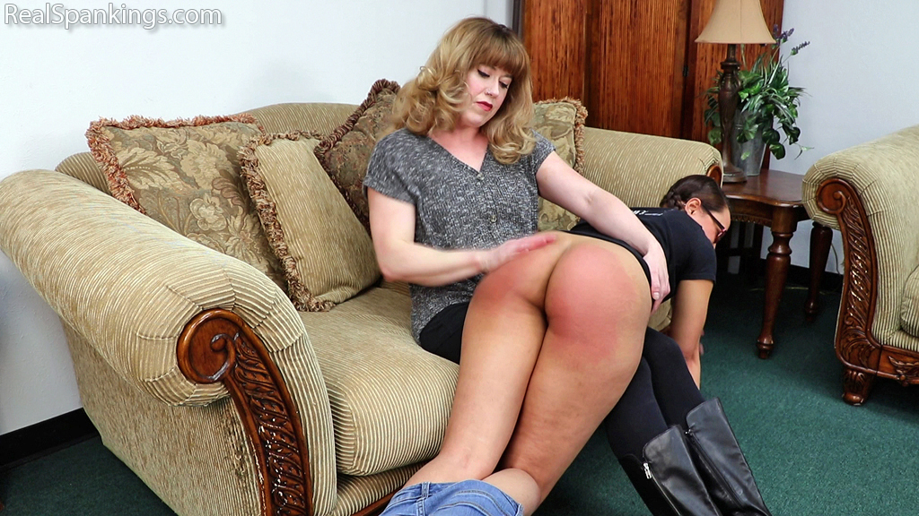 Real Spankings – MP4/Full HD – Ambriel: Spanked Hard by Miss Betty (Part 1 of 2)