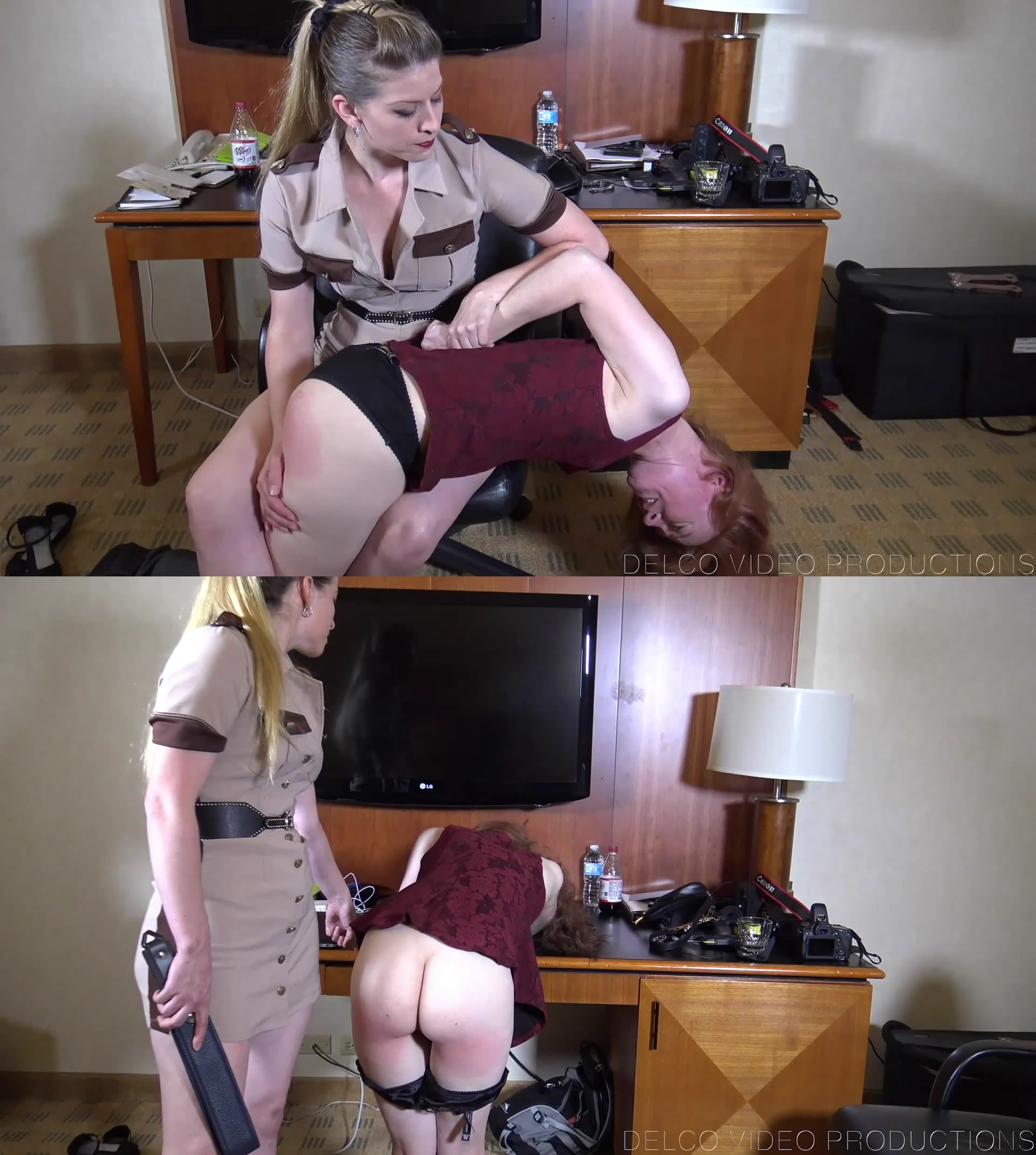 Delco Video Productions – MP4/Full HD – Harley Havik, Melody Nore – Shoplifter's Sanction