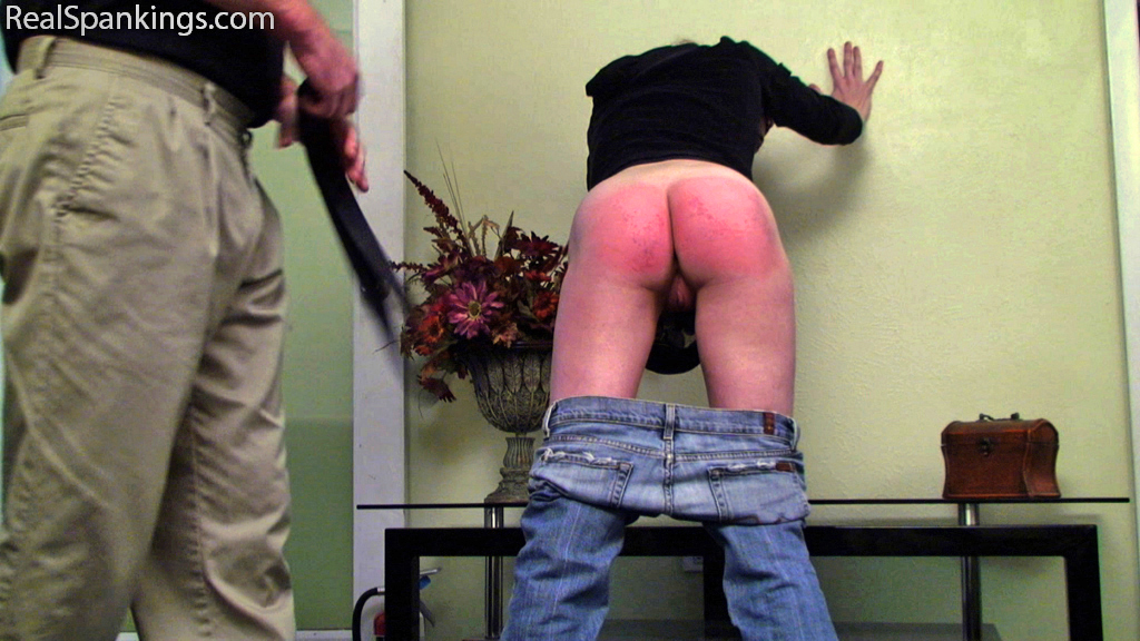 15496 019 - Real Strappings – RM/HD – Kiki is Spanked with the Belt while KJ Listens (Part 2 of 2)  | June 21, 2019