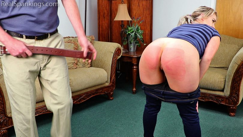 15509 008 810x456 - Real Spankings – MP4/Full HD – Cara's Bare Bottom Whoopin' | June 21, 2019