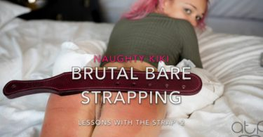 default 4 375x195 - Firm Hand Spanking - MP4/HD - Helen Stephens - The Institute - M/Nude caning for Helen Stephens, standing high on her toes, legs shaking