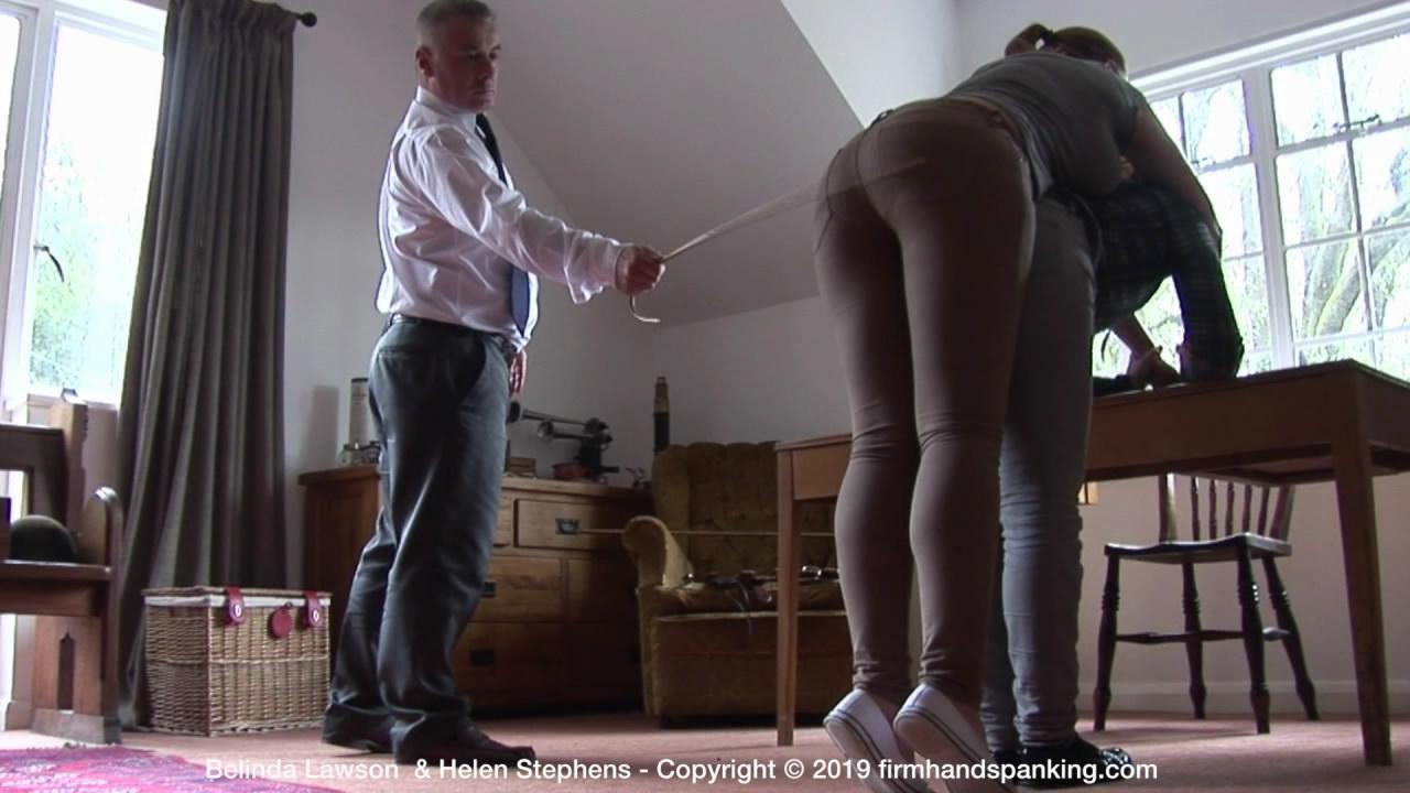snapshot20190617123436 - Firm Hand Spanking – MP4/HD – Belinda Lawson - The Institute - L/Belinda Lawson's jutting bottom is soundly caned, held on Helen's back