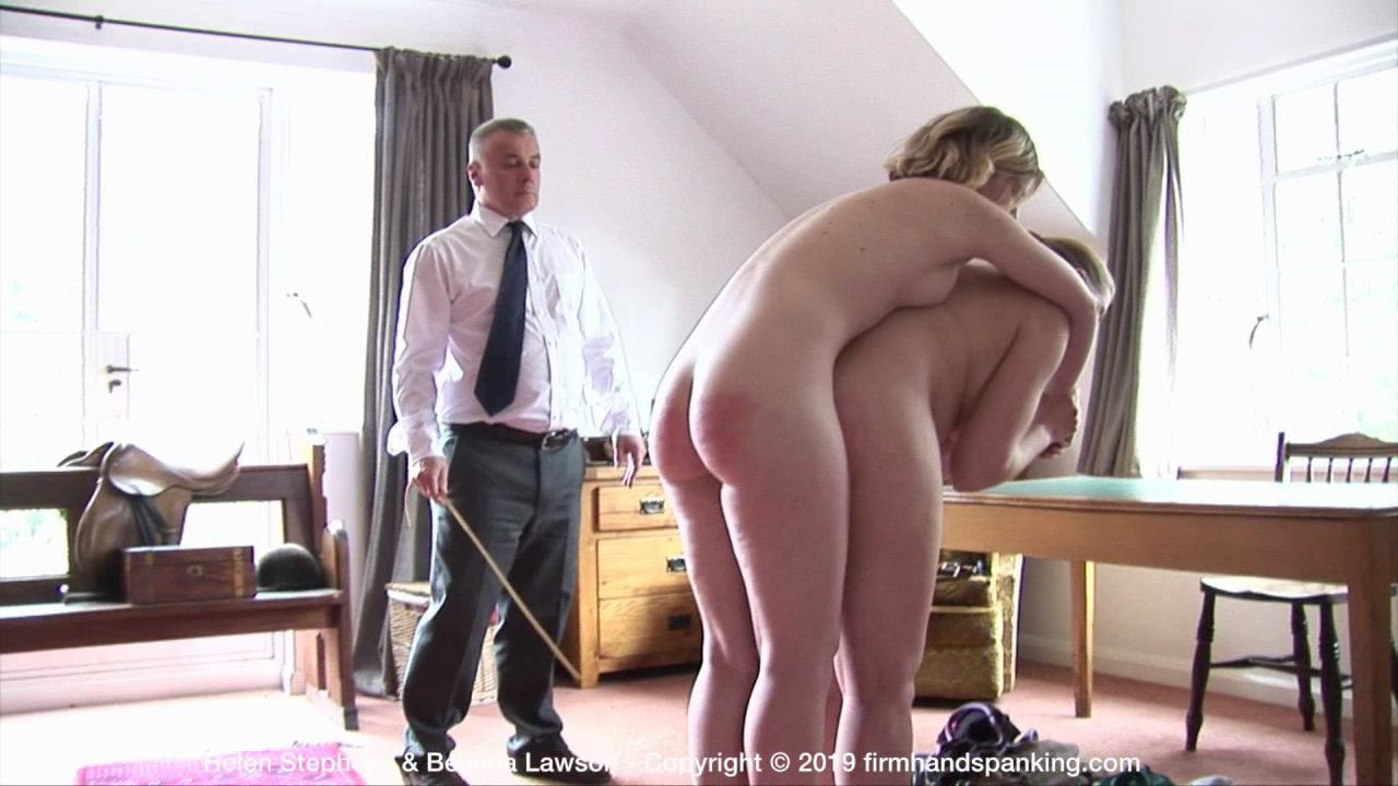"Firm Hand Spanking – MP4/HD – Helen Stephens – The Institute – P/Helen Stephens takes a final ""research"" caning, totally nude on tiptoe"