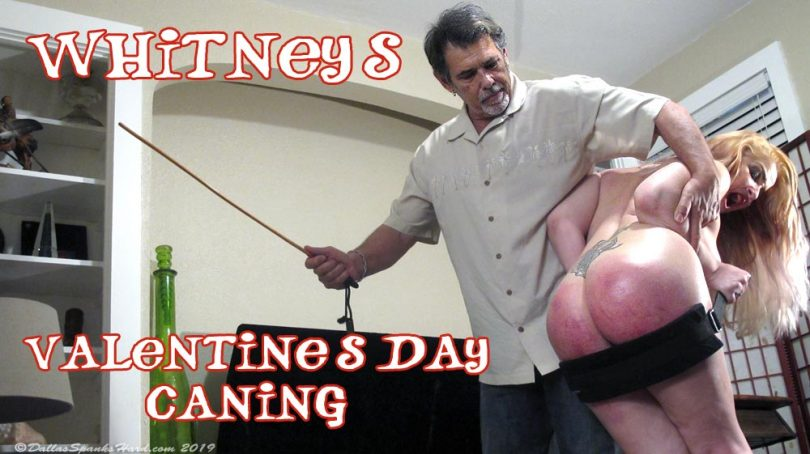 whitney caned main 810x454 - Dallas Spanks Hard – MP4/SD – Whitney Morgan - Hard Valentine's Caning