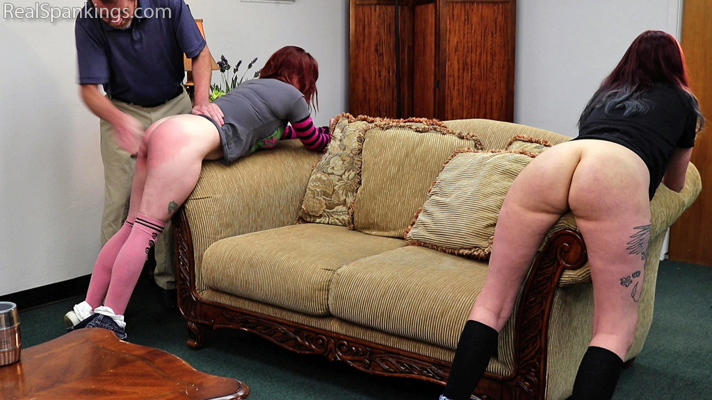 Real Spankings – MP4/Full HD – Isabella and Anastasia Hand Spanked Together (Part 1 of 2)  | July 12, 2019