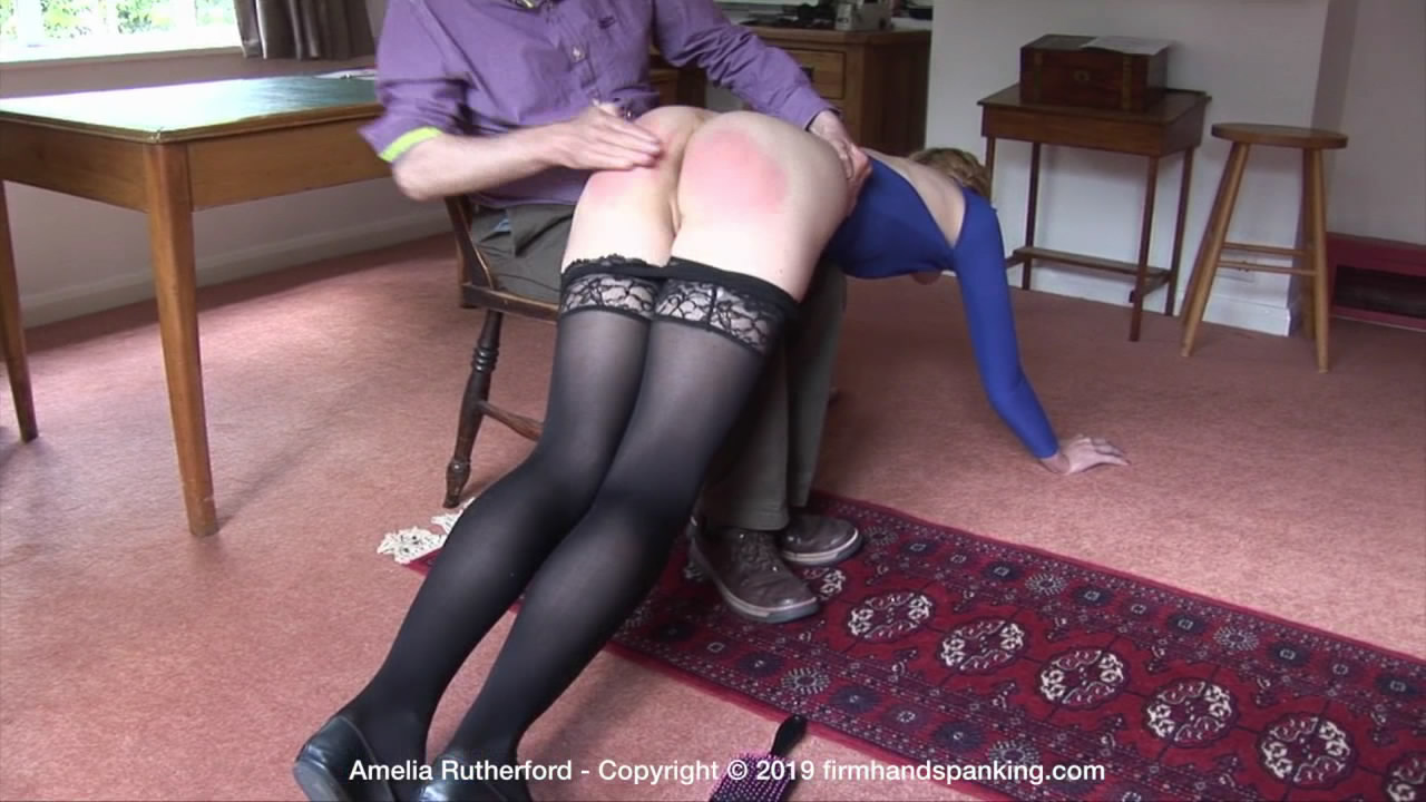 Firm Hand Spanking – MP4/HD – Amelia Rutherford – Secret Agent – B/Sound bare bottom over-the-knee spanking for Secret Agent Amelia Rutherford | Jul 29, 2019
