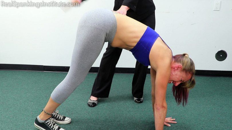 15633 007 810x456 - Real Spankings Institute – MP4/Full HD – Late for Gym Means a Paddling for Gena | August 30, 2019
