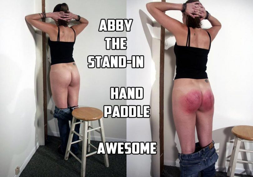 abby2 2 main 810x567 - Dallas Spanks Hard – MP4/SD – Abby The Stand-in Hand Paddle | AUG. 02, 19