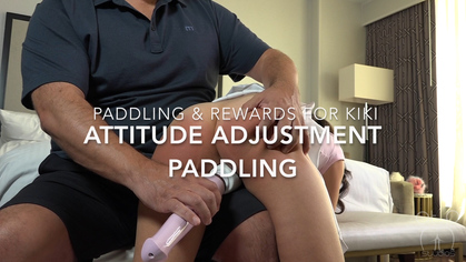 Assume The Position Studios – MP4/HD – THE MASTER,KIKI CALI – PADDLING AND REWARDS FOR KIKI – ATTITUDE ADJUSTMENT AND SQUIRTING ORGASM