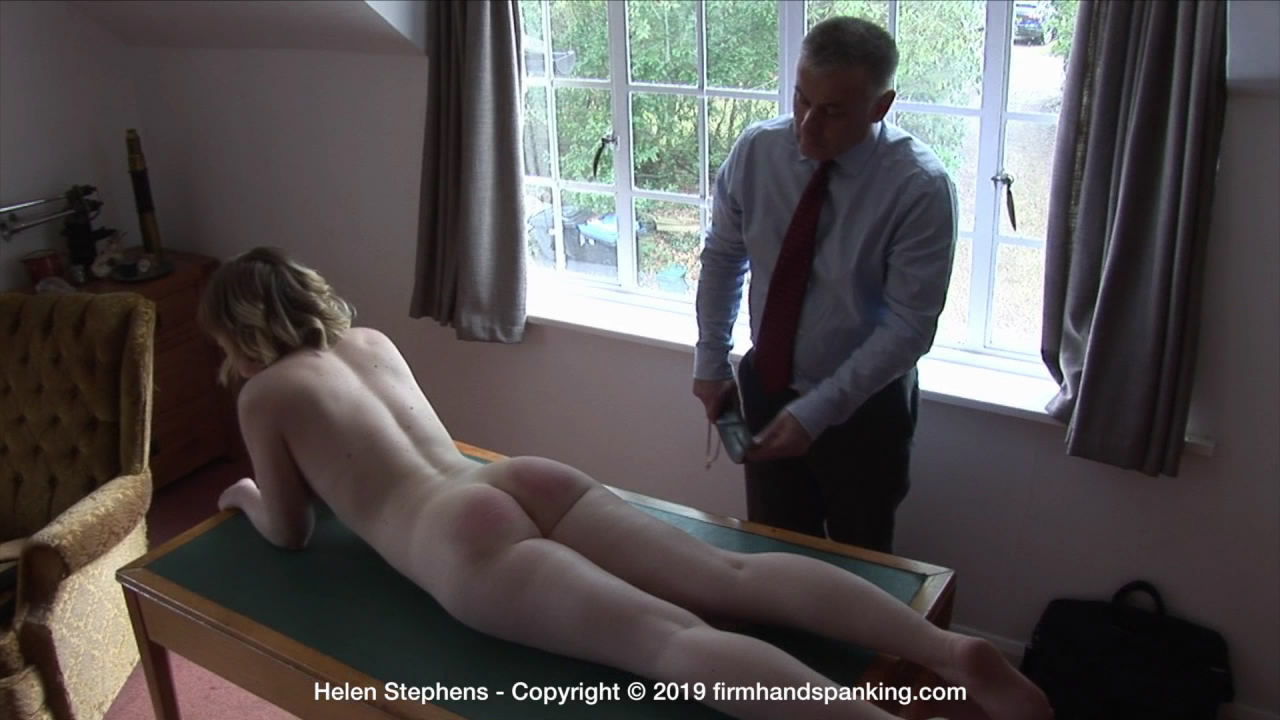 Firm Hand Spanking – MP4/HD – Helen Stephens – The Institute ZA/Lying flat on an office desk, totally naked, Helen Stephens is strapped to the max!  | Jul 31, 2019