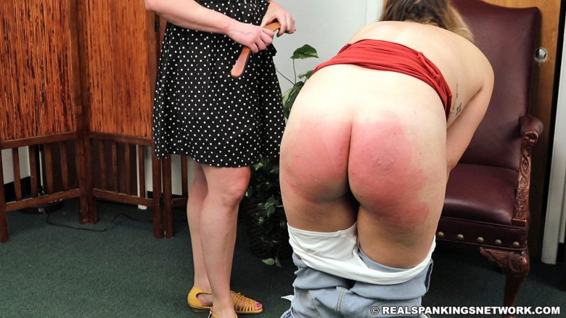15686 010 810x456 - Real Spankings – MP4/Full HD – Bare Breasted Punishment: Kaylee  | September 18, 2019