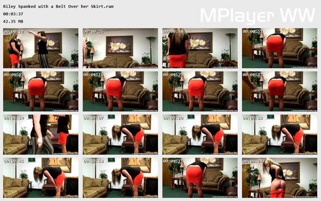Riley Spanked with a Belt Over her Skirt Preview - Real Strappings – RM/HD – Riley: Spanked with a Belt Over her Skirt | September 02, 2019