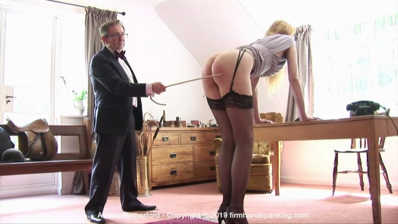 snapshot20190907180900 810x456 - Firm Hand Spanking – MP4/HD – Amelia Rutherford - Secret Agent – E/Amelia's bare bottom is caned bare after a serious security breach | Sep 06, 2019