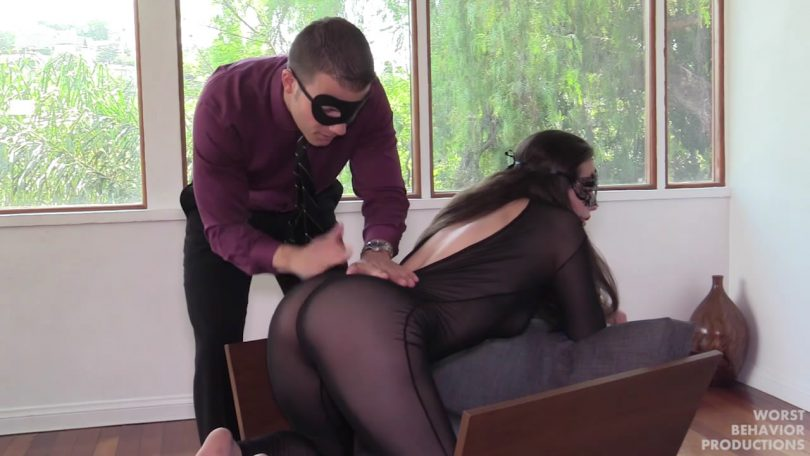 snapshot20190914123335 810x456 - Worst Behavior Productions – MP4/HD – Casey Calvert, Codey Steele - Masks Part One - Masks Part One - The Seduction, Her Bath and Catsuit Spanking