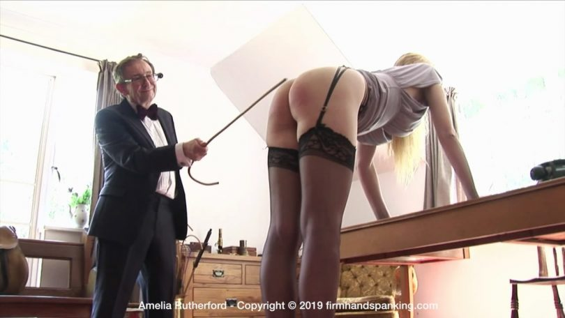 snapshot20190915121000 810x456 - Firm Hand Spanking – MP4/HD – Amelia Rutherford - Secret Agent – F/A striped bare bottom for Amelia Rutherford as the cane whistles down! | Sep 11, 2019