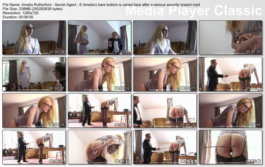 thumbs20190907180808 - Firm Hand Spanking – MP4/HD – Amelia Rutherford - Secret Agent – E/Amelia's bare bottom is caned bare after a serious security breach | Sep 06, 2019