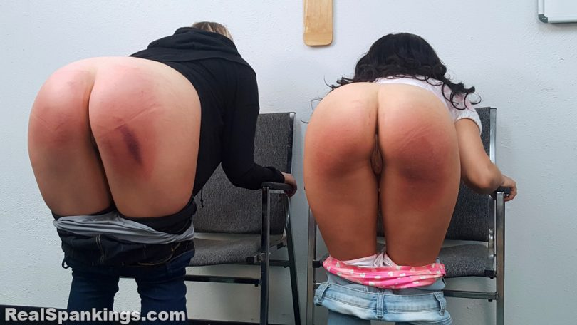15757 025 810x456 - Real Spankings – MP4/Full HD – Kiki and Cara Sent for a Paddling (Part 2 of 2) | October 18, 2019