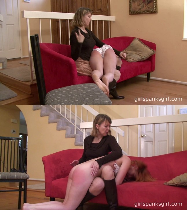 2019 10 08 130434 - Girl Spanks Girl – MP4/Full HD – Clare Fonda, Katherine St. James  - Mom Spanks Daughter For Showing Off Bikini