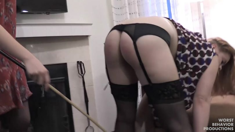 snapshot20191010225916 810x456 - Worst Behavior Productions – MP4/HD – Stevie Rose, Apricot Pitts - Boss Spanked and Caned Part Two