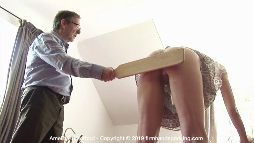 snapshot20191030104638 810x456 - Firm Hand Spanking – MP4/HD – Amelia Rutherford - Secret Agent – J/14 swats with a wooden paddle will teach Amelia a valuable lesson in compliance | Oct 28, 2019